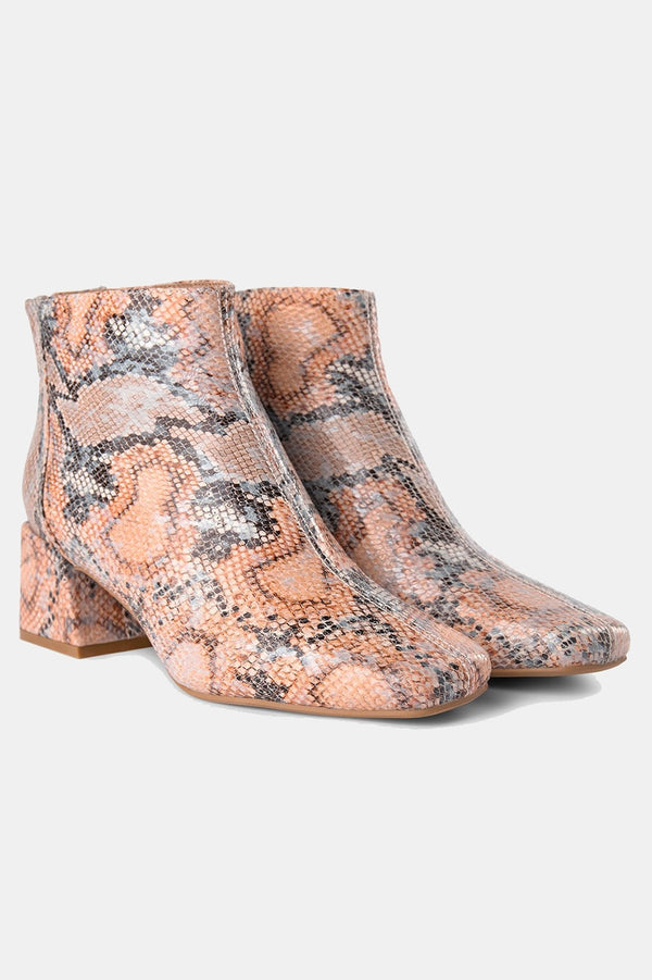 SHOE THE BEAR NATURAL SNAKE PRINT APRIL BOOT