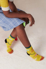 Hysteria Yellow Julia Ankle Socks