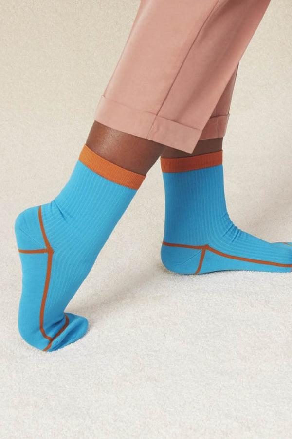 Hysteria Blue Lily Ankle Socks