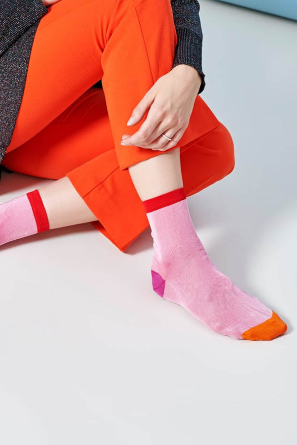 Hysteria Pink Grace Ankle Socks