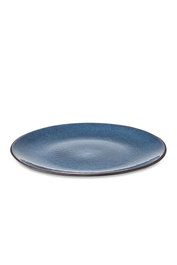 Nkuku Navy Bao Ceramic Dinner Plate