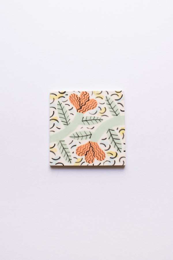 Peach Ceramic Coaster
