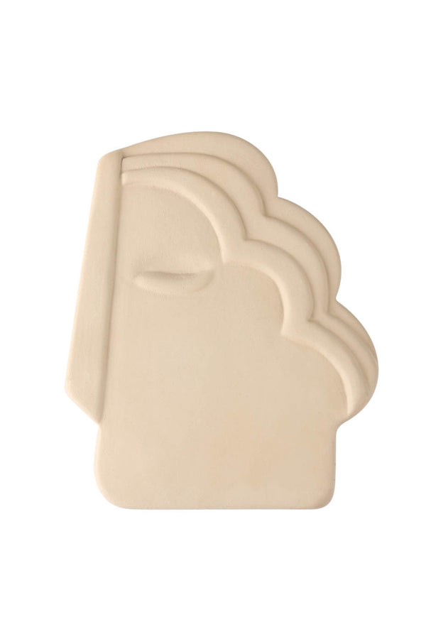 HKLiving Matt Creme Face Wall Ornament