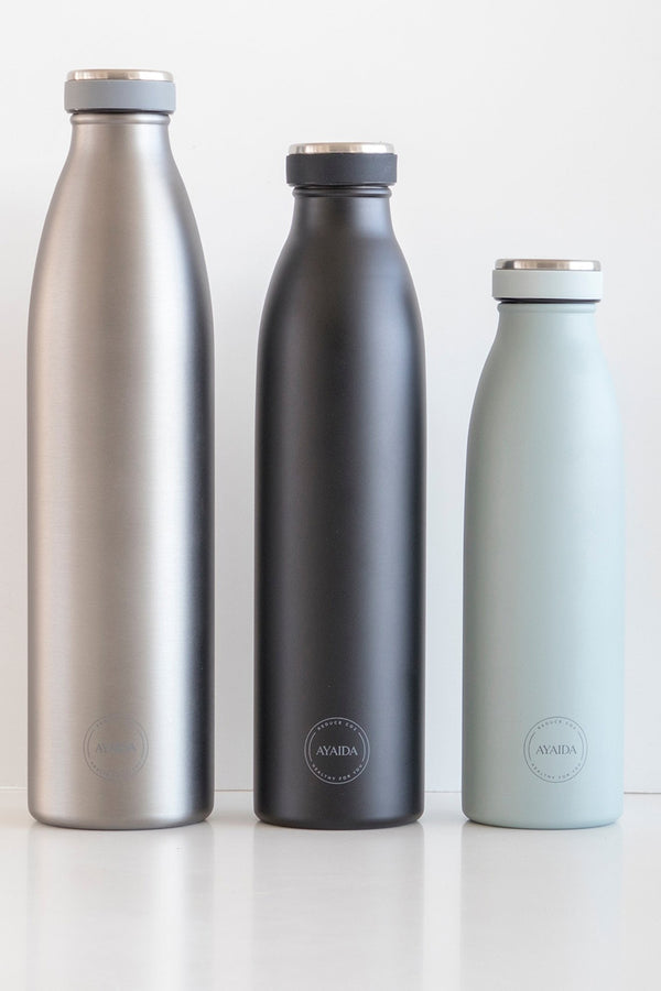 AYAIDA COOL GREY DRINK FLASK 1L