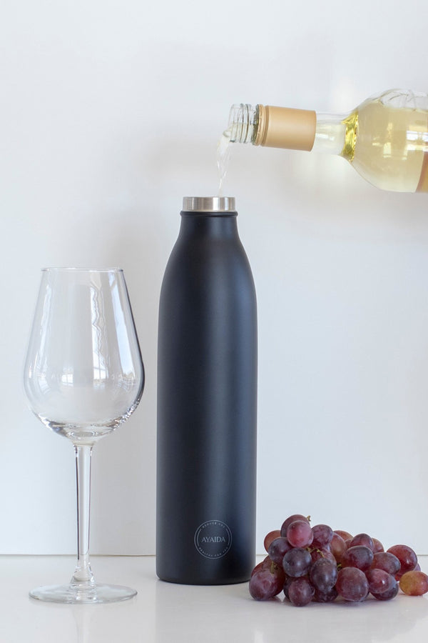 AYAIDA MATTE BLACK DRINK FLASK 750ML