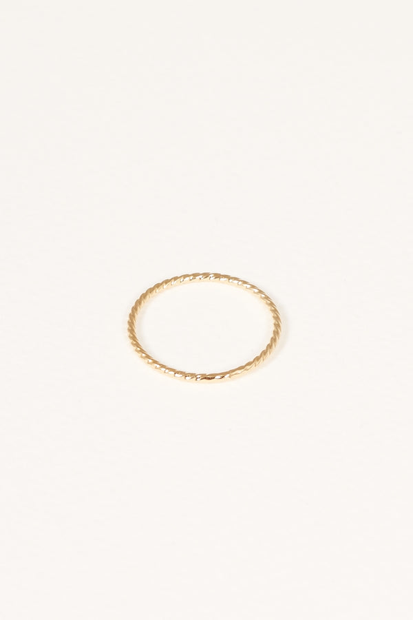 ALIZA FIRE GOLD PLATED TWISTED STACKING RING