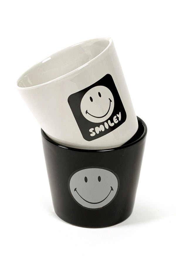 SERAX BLACK SMILEY SMALL POT