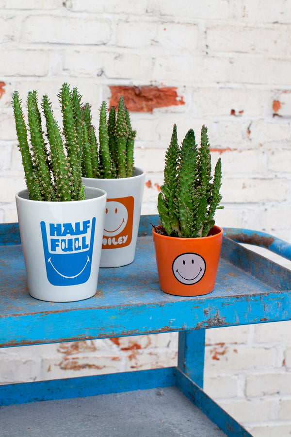 SERAX BLUE SMILEY LARGE POT