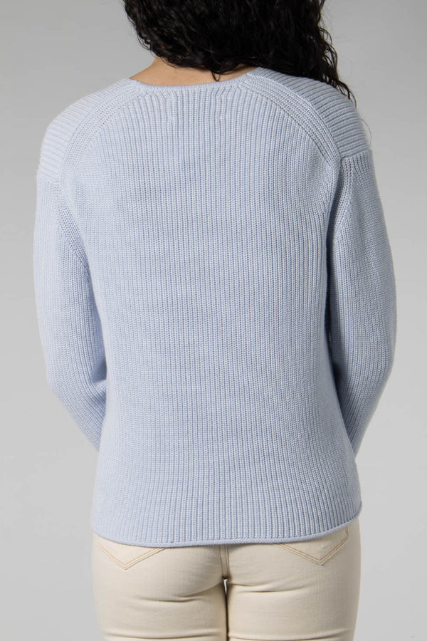 Samsoe Samsoe Halogen Blue 11016 Siena Crew Neck Sweater