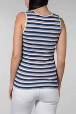 Mads Norgaard Blue Stripe Texina Top