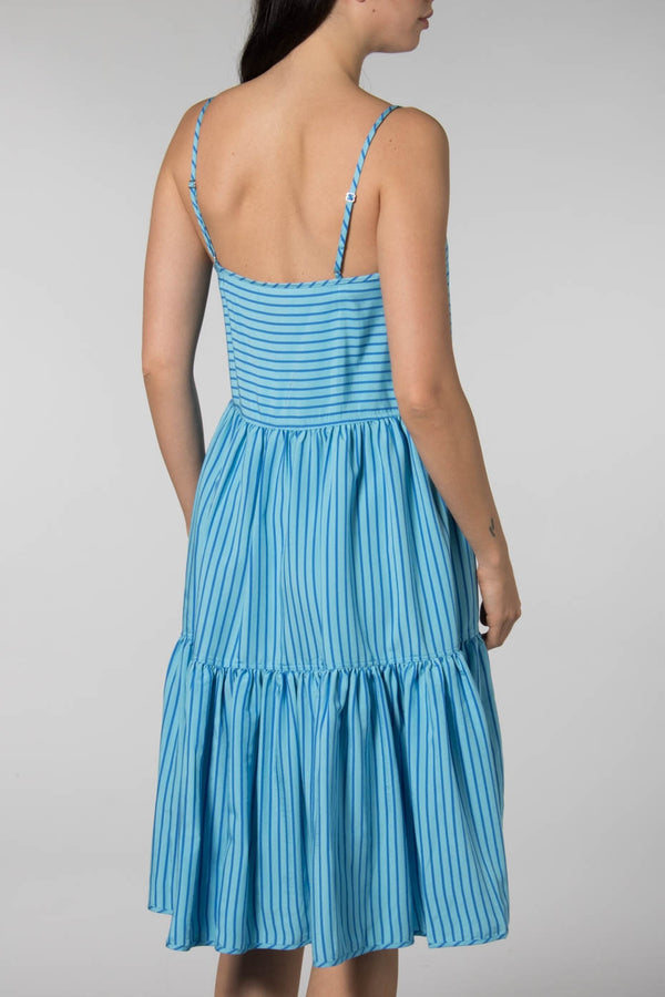 Mads Norgaard Blue Striped Ditzina Dress