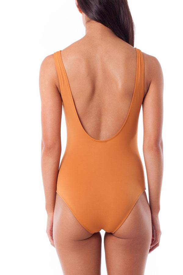 Rhythm Ginger Sunchaser Lace Up One Piece Swimsuit