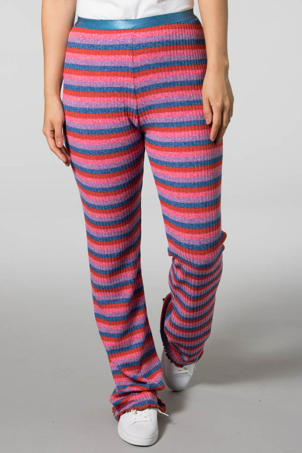 Mads Norgaard Multi Red Super Stripe Lonnie Trousers