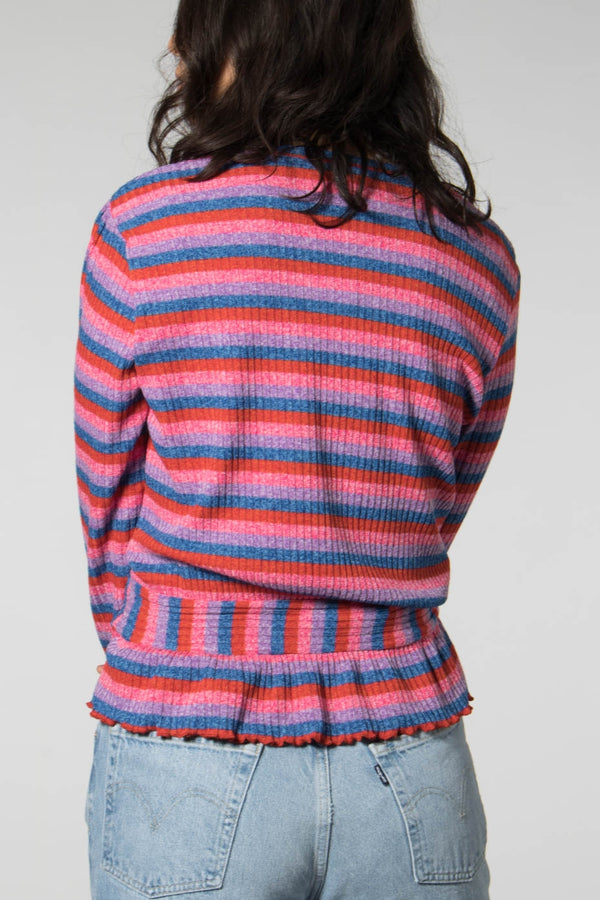 Mads Norgaard Multi Red Super Stripe Beautina Top