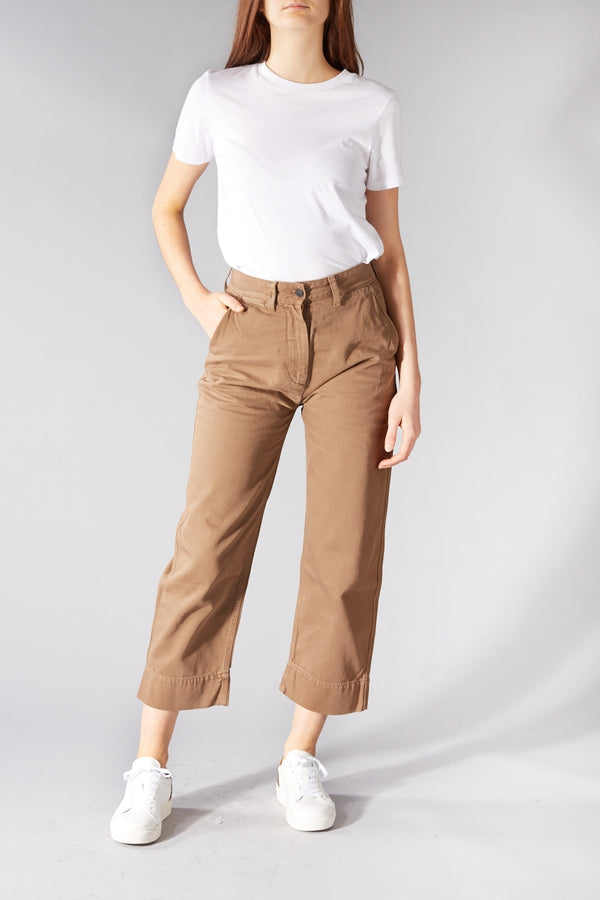 KINGS OF INDIGO BEIGE DARIA TROUSERS