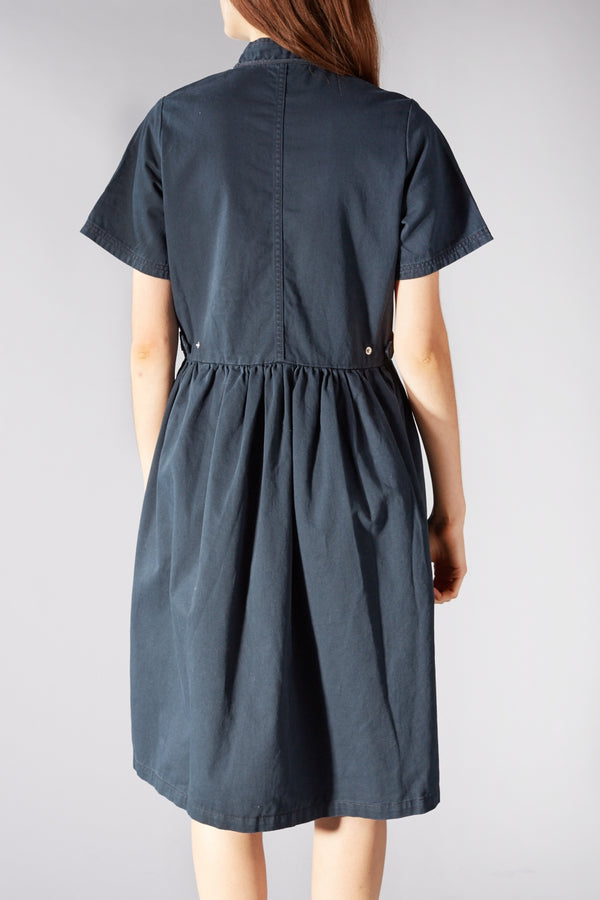 MADS NORGAARD NAVY DORZIMA DRESS