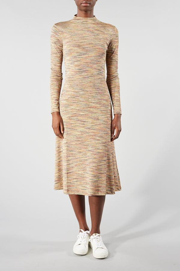 SAMSOE SAMSOE GOLD LYDIA DRESS
