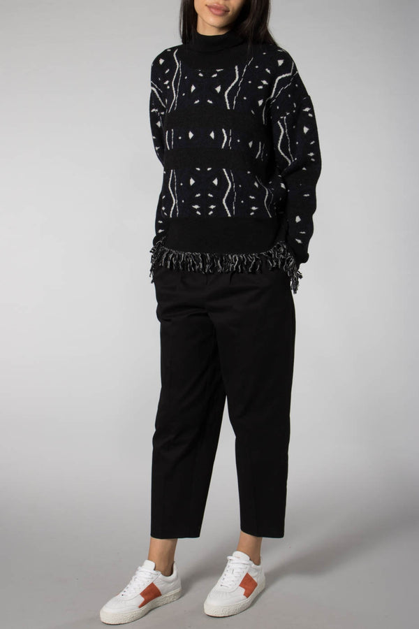 Libertine-Libertine Dark Navy/White Stay Rollneck Jumper