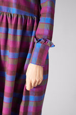 LIBERTINE LIBERTINE PURPLE CHECK ALLEY DRESS