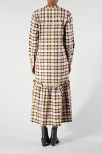 LIBERTINE-LIBERTINE PINK GRID SWITCH DRESS