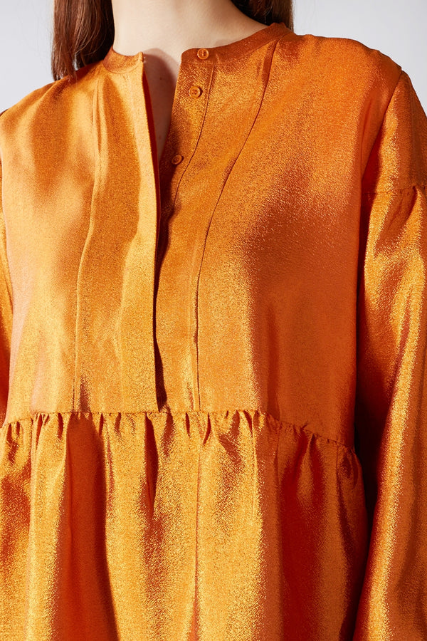 SAMSOE O SAMSOE ORANGE MARGO SHIRT DRESS
