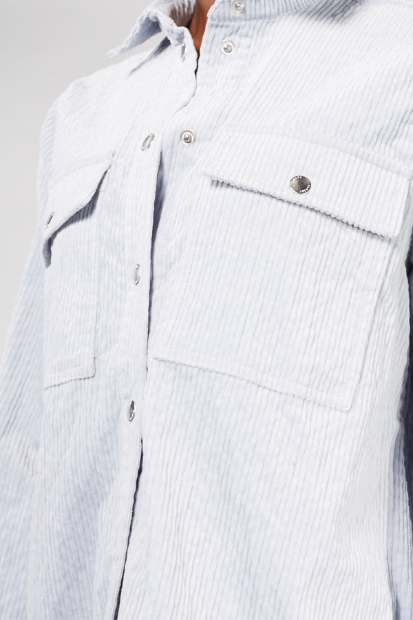 Ice Blue Corduroy Leonora Shirt