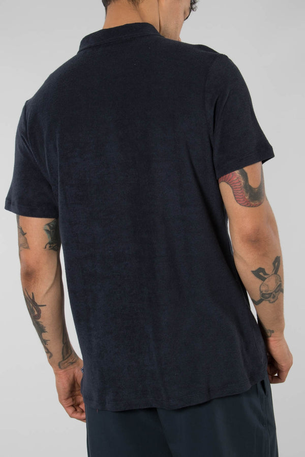 The GoodPeople Navy Video Polo Shirt