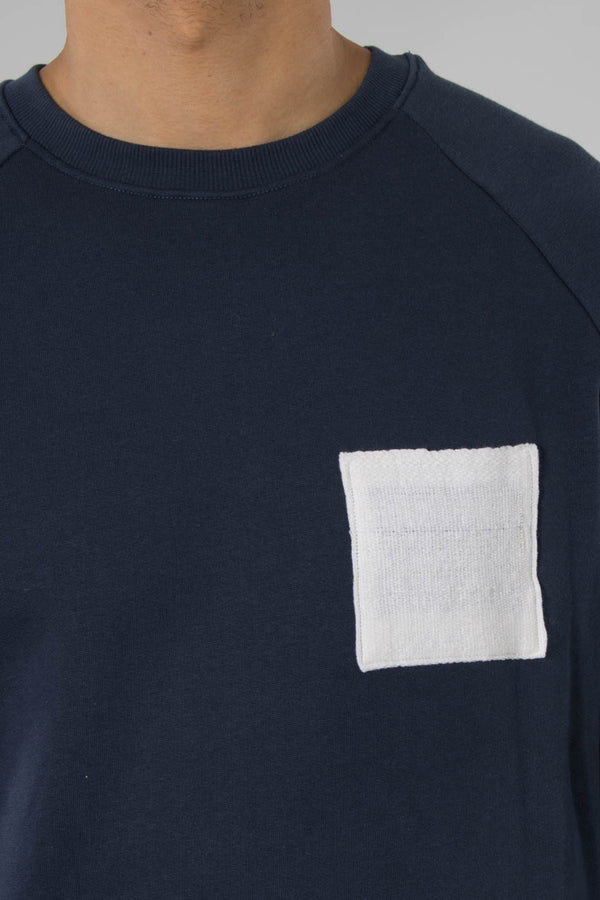 Origin Navy Sweashirt W/Ethiopian Pure White Cotton Patch