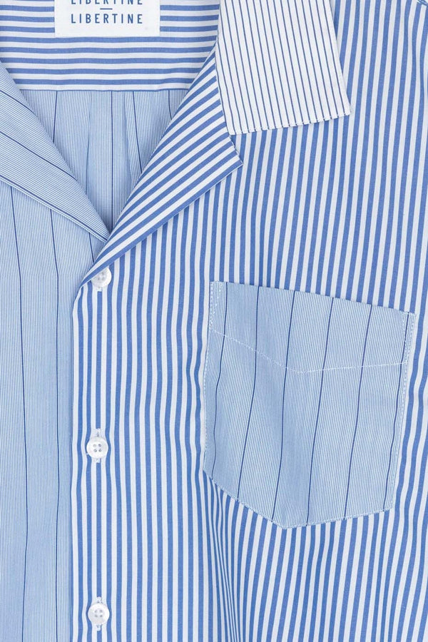 Libertine-Libertine Stripe Mix 1 Cave S/S Dress Shirt