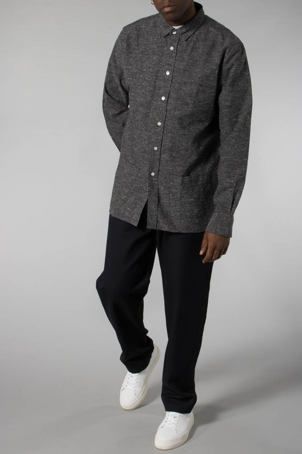 La Paz Black Castro Front Down Pockets Shirt