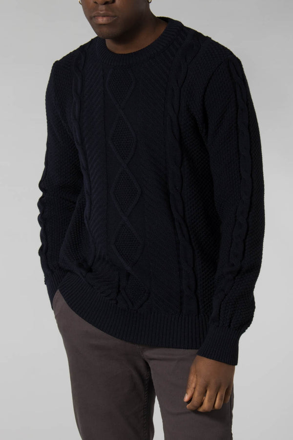 Outland Navy Finnegan Pull Jumper