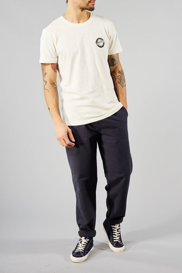 PORTUGUESE FLANNEL NAVY CHEMY TROUSERS