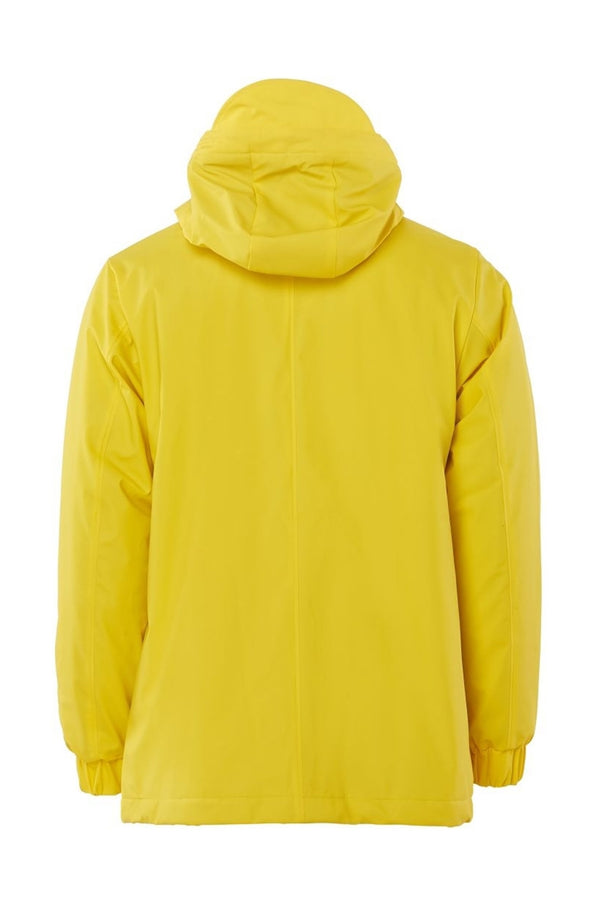 Yellow Quilted Parka Jacket