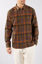 CORRIDOR UNITY BROWN PLAID LS SHIRT