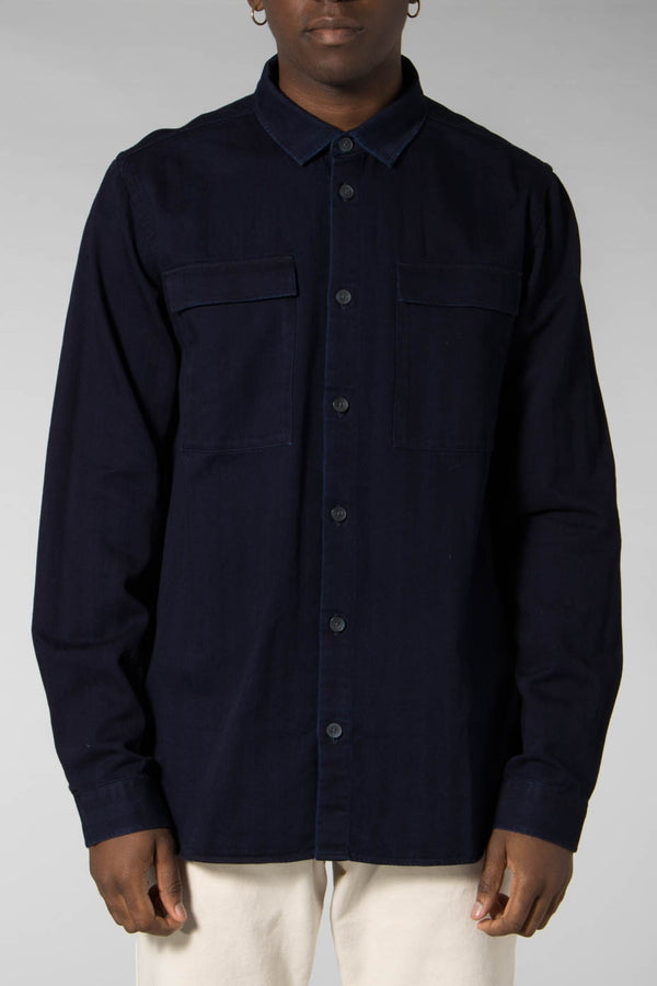 Libertine-Libertine Grey Melange Nation Dress Shirt