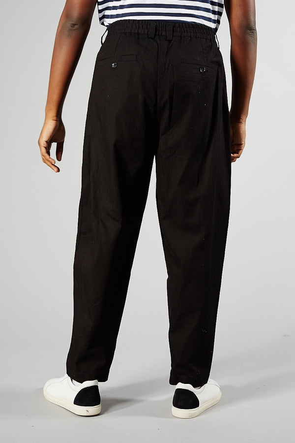 Black Helter-Skelter Trousers