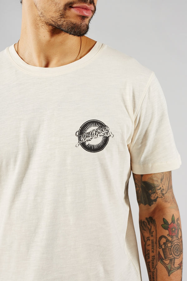 SELECTED HOMME CREAM ANDRES O-NECK TEE