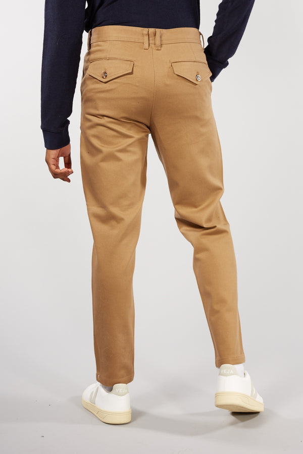 Ermine Tan Tapered Twill Trousers