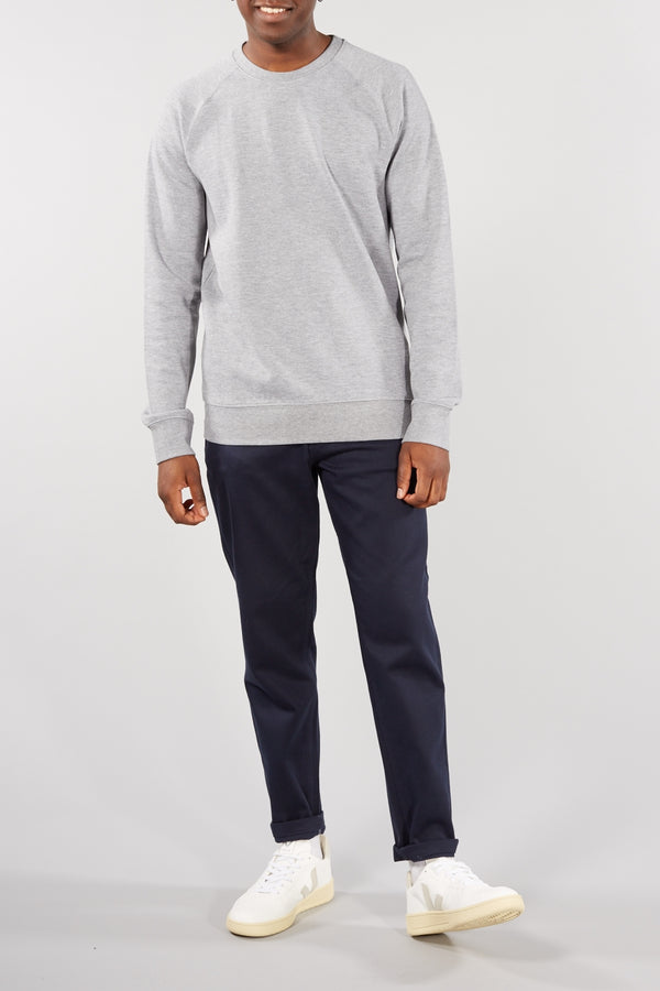SELECTED HOMME LIGHT GREY RAMI CREW NECK SWEATER