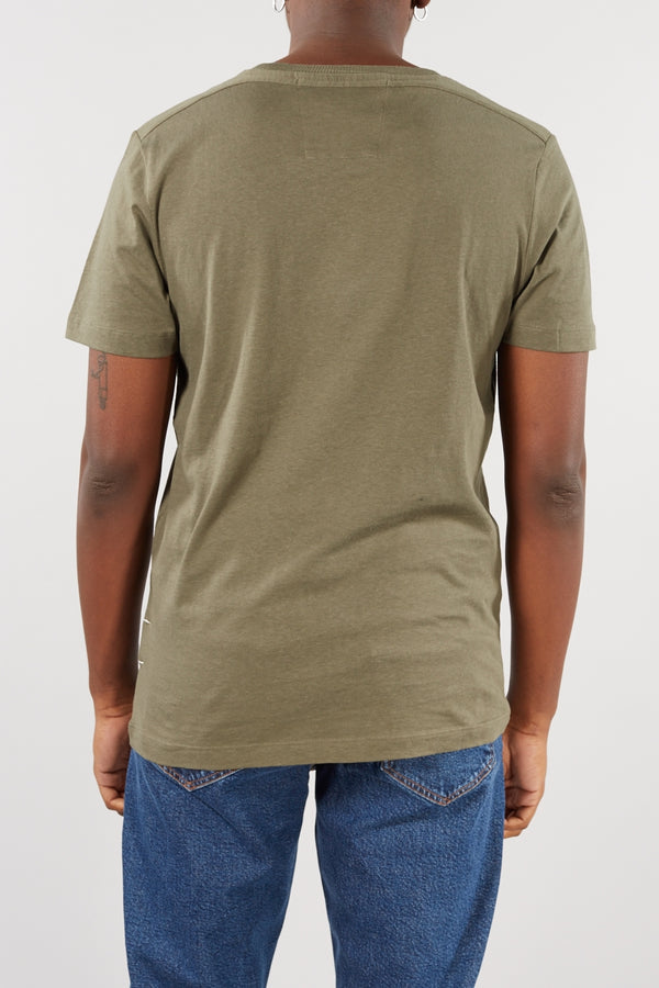SELECTED HOMME OLIVE GREEN JARED O-NECK TEE