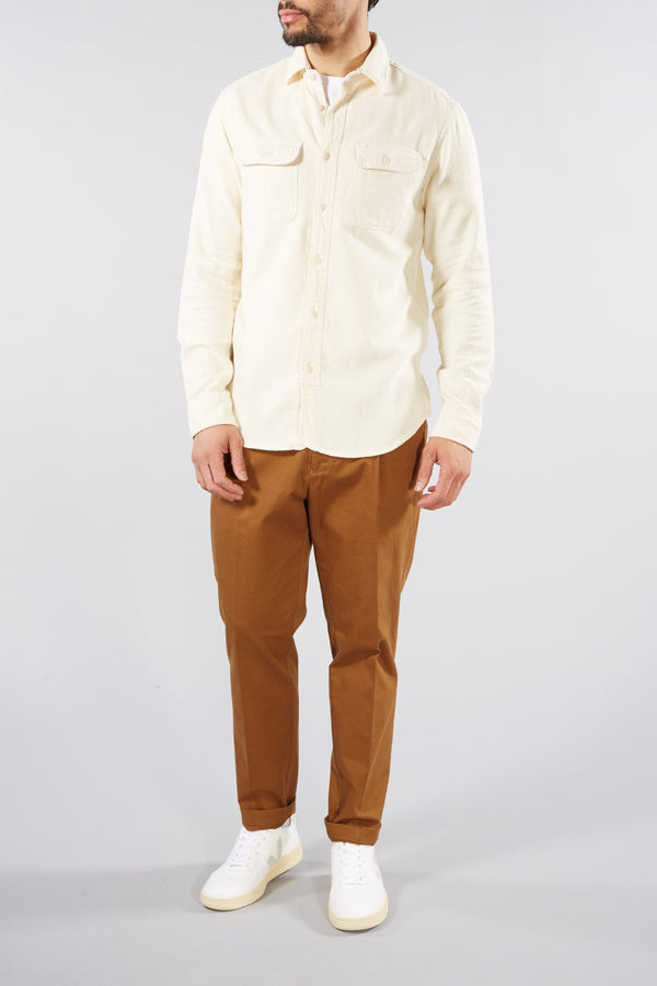 SELECTED HOMME CREAM WHITE JACKSON LONG SLEEVED SHIRT