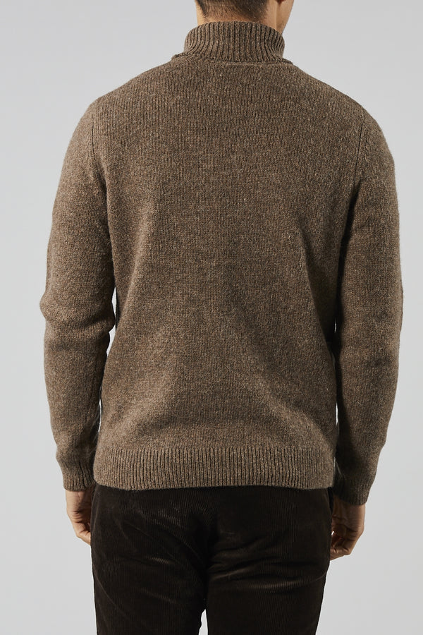 SAMSOE SAMSOE BROWN UER TURTLE NECK