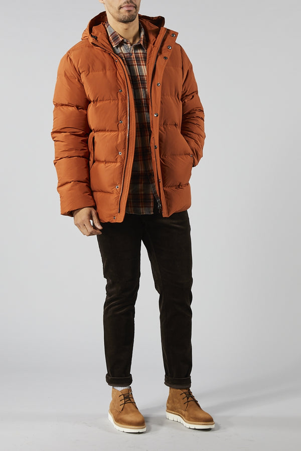 SAMSOE SAMSOE ORANGE BJARKET PUFFER JACKET