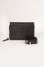 ROYAL REPUBLIQ BLACK LEATHER RAF WILDFLOWER BUMBAG