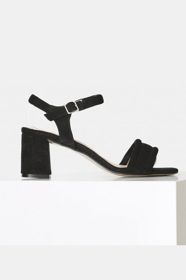 SHOE THE BEAR BLACK MAY ANKLE SUEDE SANDAL