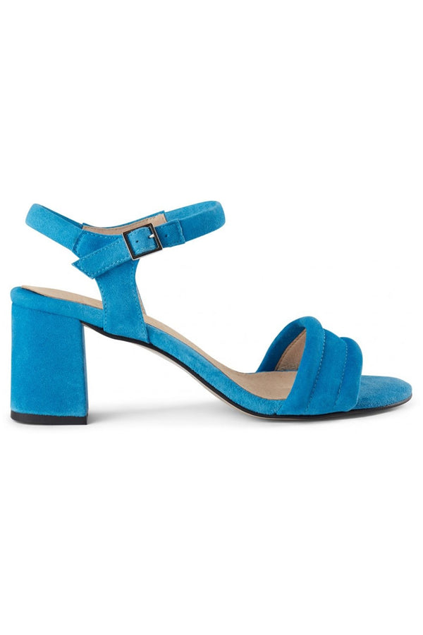 SHOE THE BEAR BLUE MAY ANKLE SUEDE SANDAL
