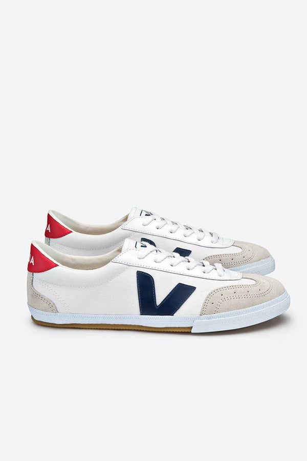 Veja White Nautico Pekin Volley Canvas Trainers