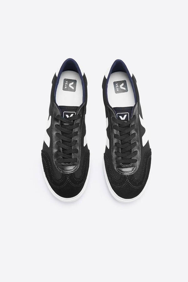 Veja Black/White Volley Canvas Trainers