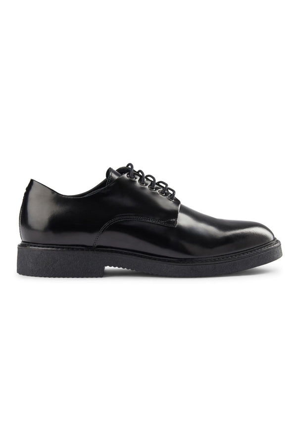 SHOE THE BEAR BLACK LEATHER PARRISH DERBY SHOES