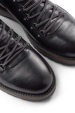 SHOE THE BEAR BLACK LEATHER LAWRENCE BOOT